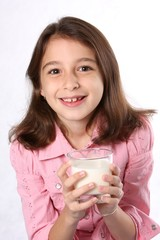 Young Girl / Child With Glass Of Milk