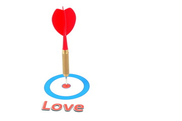 love concept with dart arrow
