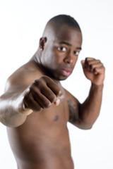 black man boxing