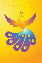 vector illustration of the Firebird