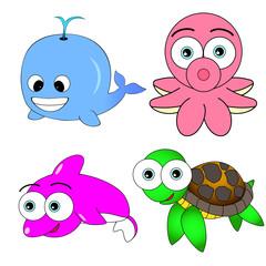 Cute Sea Animal Set