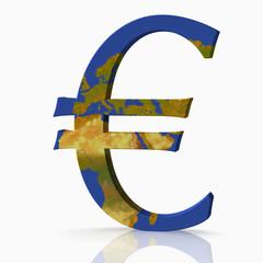 3D Euro mit Europakarte