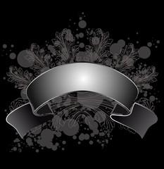Grunge Leaf Calligraphy Banner