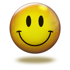 Emoticon 3D. Sonriente