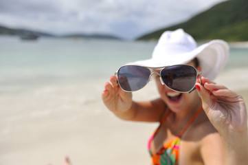 Woman enjoying her holiday