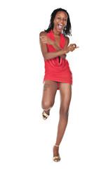 dancing african woman