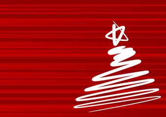 Abstract christmas tree - simple drawing