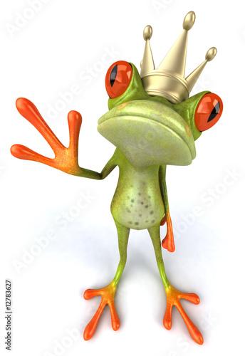 """Grenouille Couronne grenouille avec une couronne"""" photo libre de droits sur la banque d"""
