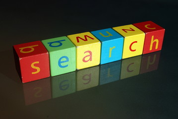 """Search"" (wooden blocks at an angle)"
