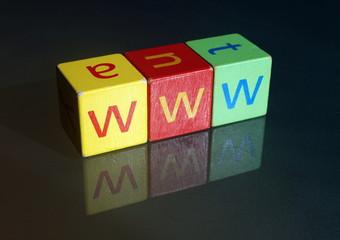 """""""www"""" (wooden blocks)"""