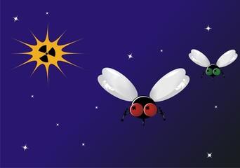 Cosmic Flies