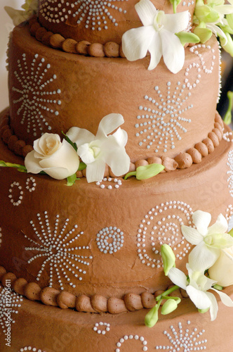 Beautiful Chocolate Wedding Cake Stock Photo And Royalty Free