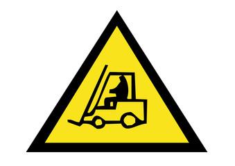 danger forklift operating