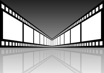 pellicola grigia riflessa centrale