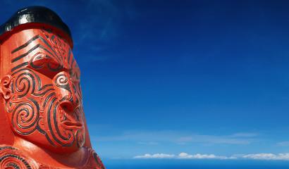 Traditional maori wooden sculpture