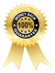 100 % GUARANTEE medal vector illustration