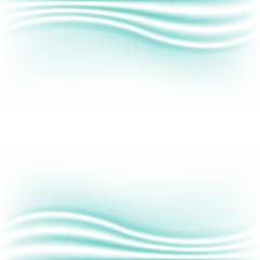 Spoed Foto op Canvas Klassieke abstractie sfondo con onde verdi