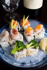 Maki misto pesce con verdure