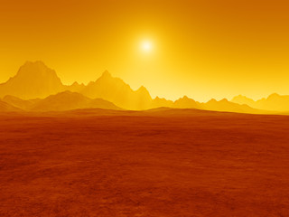 red desert sunset