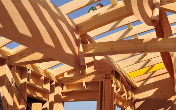 Stitched Panorama charpente de toit