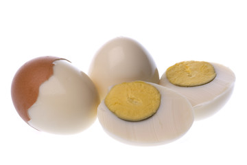 Boiled Chicken Eggs Macro Isolated