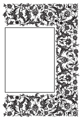Decorative vector ornament in Victorian style
