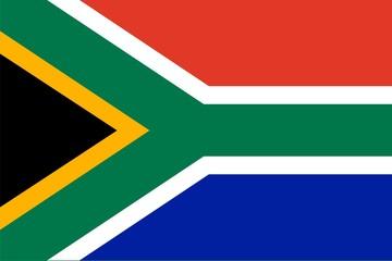 Flag of RSA. Illustration over white background