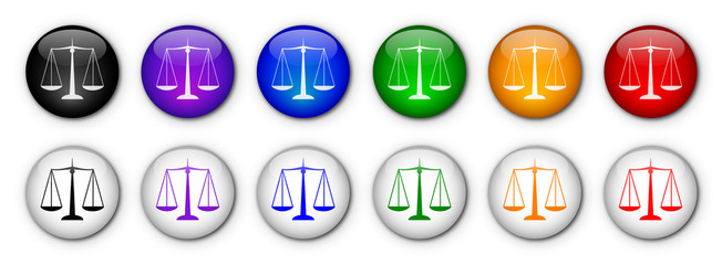 """Buttons """"Scales Of Justice"""" (x12) (various colours)"""
