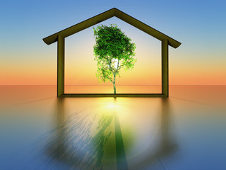 Fototapeta maison écologique obraz