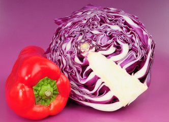 Cabbage & bell pepper