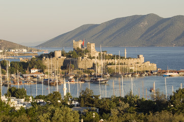 Bodrum Castle at sunset, Turkey.