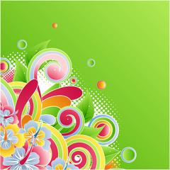 Beauty flower card