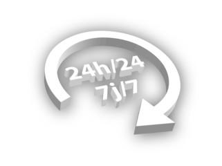 """Symbole 3D  """"24h/24 7j/7"""""""