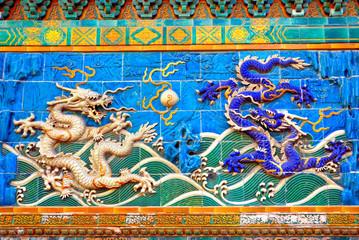 China Beijing Beihai imperial park Dragon