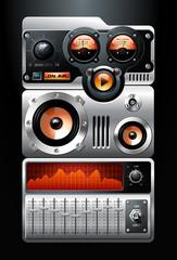Orange Analog MP3 Player