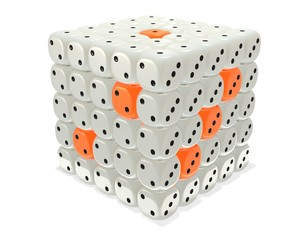 Dice cube cluster