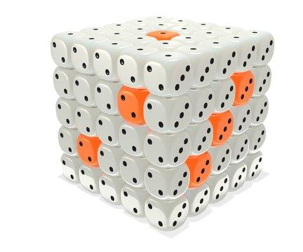 Dice cube cluster