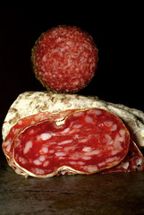 Auvergne saucisson sec with a herb crusted salami
