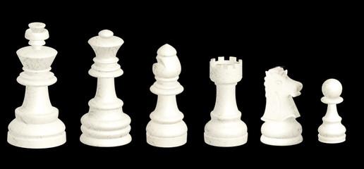 Piezas del ajedrez de marmol