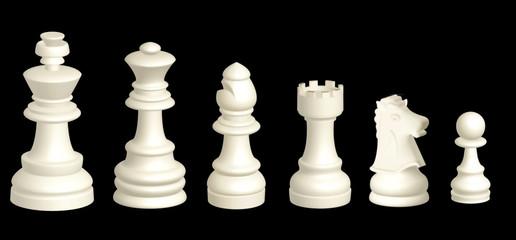 Piezas del ajedrez de alabastro