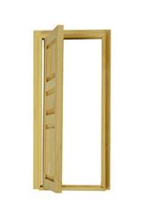 Wooden Door Open