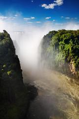 Foto op Plexiglas Oranje Victoria Falls