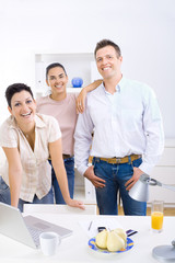 Small business team
