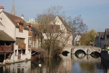 pont sur l'Eure à Chartres (28)