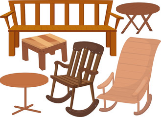 various chairs and tables