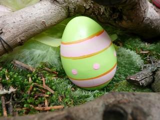 Pâques oeuf vert anis