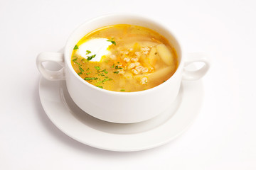 soup with cream
