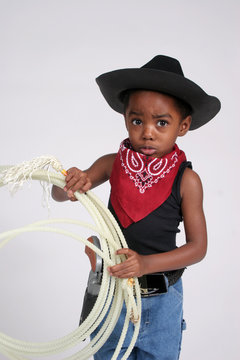 Cowboy child with rope