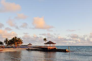 Beachside pavilion and walkway