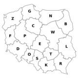 polen woiwodschaften mit namen auf polnisch und deutsch stockfotos und lizenzfreie vektoren. Black Bedroom Furniture Sets. Home Design Ideas